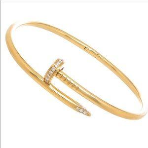 CZ Nail Bangle Screw Bracelet